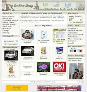 My Online Shop Webshop Internet Shop Top Verkaufmarkt Anzeigenmarkt Shopsoftware