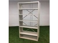 Cream racking with adjustable shelves cheap office furniture London Essex harlow