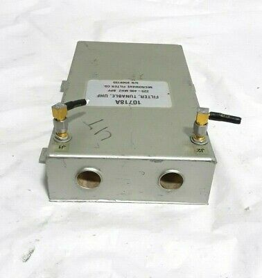Microwave Filter Co Mfc 10718a Tunable Uhf 225-400mhz