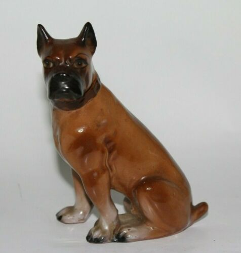 Vintage Boxer Dog Figurine Japan 5 1/4""