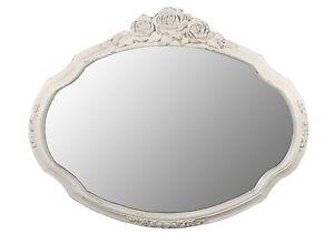 Grande vintage effetto anticato shabby chic rosa color - Specchio ovale vintage ...