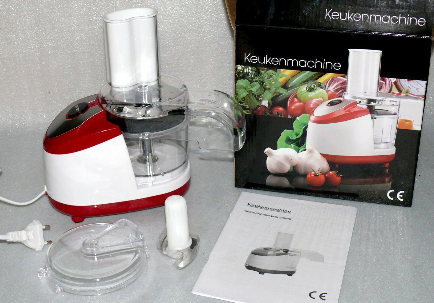 EC01M Universale Mini Power Küchenmaschine 0,4L 250W Schneiden Mixen Zerkleiner