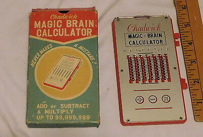 vintage Chadwick Magic - Brain Calculator with box