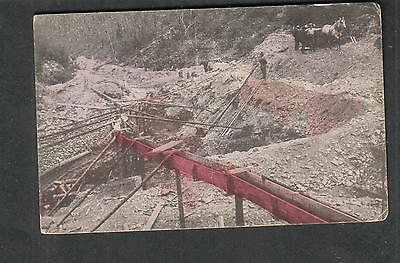 unmailed post card Gold Mining in Australia