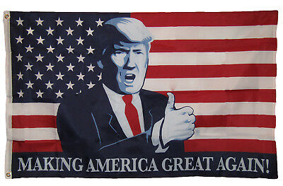 3x5 USA American Trump Making America Great Again Thumbs Up Flag 3'x5' Grommets