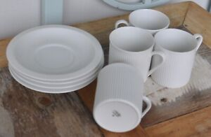 Vintage Arzberg 36. ribbed cups and saucers, German, stamped