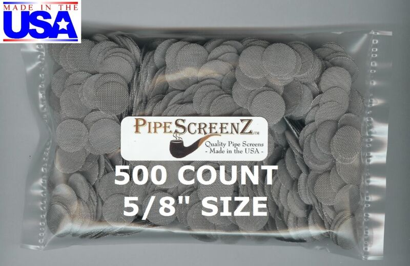 """500+ Count 5/8"""" Stainless Steel Pipe Screens HIGHEST QUALITY - MADE IN USA!"""