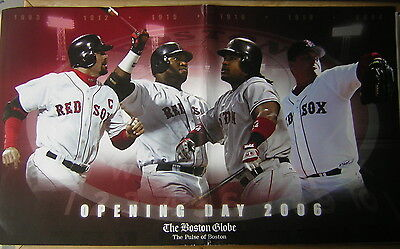The Boston Globe  Tuesday  April 11  2006 W Red Sox Opening Day Poster Overlay