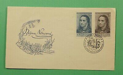 DR WHO 1950 CZECHOSLOVAKIA FDC WRITER BOZENA NEMCOVA  C241225