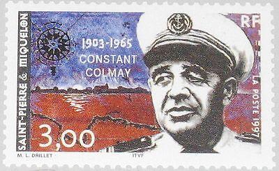 ST PIERRE MIQUELON SPM 1997 721 634 CONSTANT COLMAY MILITARY COMMANDER MNH