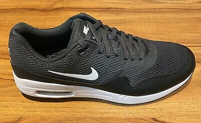 NIKE AIR MAX 1 MESH GOLF SHOES -12 UK - BRAND NEW WITH BOX - BLACK / WHITE