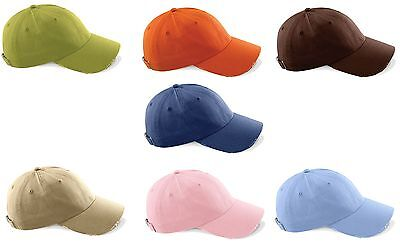 Brown Brushed Twill Hat (BLUE PINK ORANGE BROWN BEIGE blue Vintage Brushed Cotton Twill Baseball Cap)