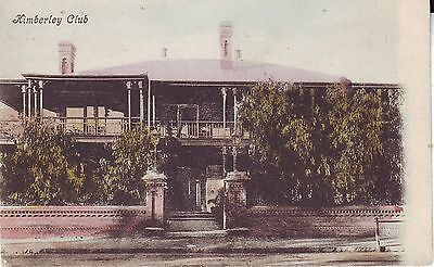 South Africa Kimberley - Club old used not mailed postcard