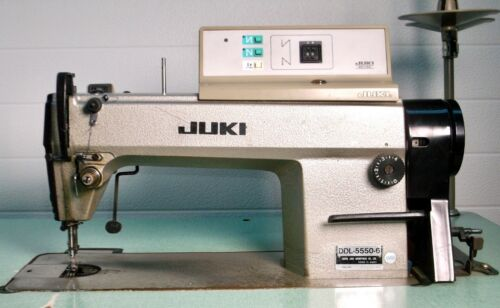JUKI Industrial Sewing Machine, DDL-5550-6 WB SC-120, w/Table