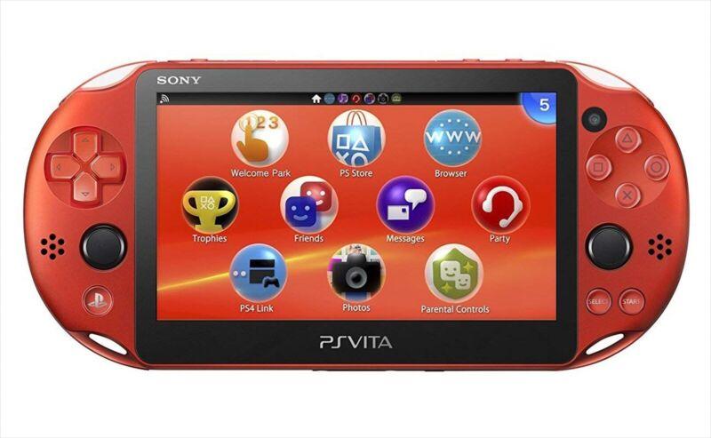 Sony+PCH-2000ZA26+Playstation+PS+Vita+Wi-Fi+Metallic+Red+Console+Japan+NEW+K+NEW