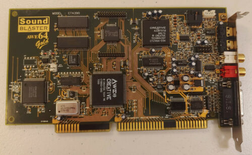 Creative Labs Sound Blaster AWE64 Gold CT4390 Retro PC DOS Gaming ISA Card