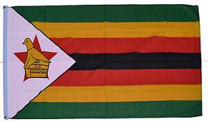 ZIMBABWE FLAG - NEW 3 x 2 FT - 100% POLYESTER - GREAT QUALITY