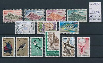 LO17183 Andorra 1977 mixed thematics fine lot MNH cv 23, 9 EUR