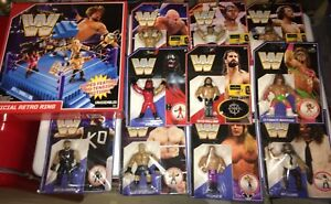 Wwe retro figures and ring set new sealed