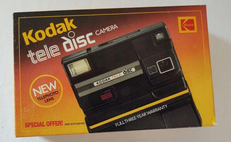 Vintage KODAK TELE DISC CAMERA OUTFIT With Telephoto Lens