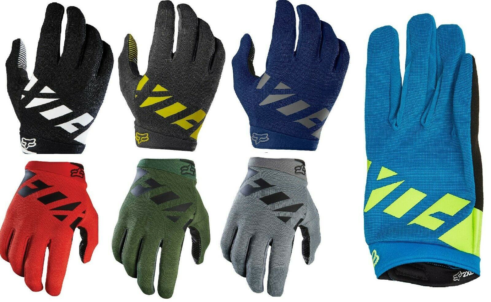 Fox Head Men's Dirtpaw Black Race Glove MTB MTX Racing gloves Bike Gloves