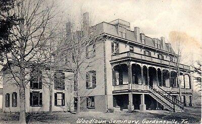 1907 GORDONSVILLE VA - Woodlawn Seminary - Exterior - Rotograph Co. - B&W RARE