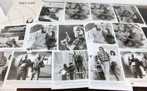 """VINTAGE 1988 RODDY PIPER """"THEY LIVE"""" PRESS KIT WITH 14 PHOTOS"""
