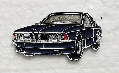 BMW 6 SERIES ENAMEL LAPEL PIN BADGE. 40x22mm. BUTTERFLY PIN FIXING.