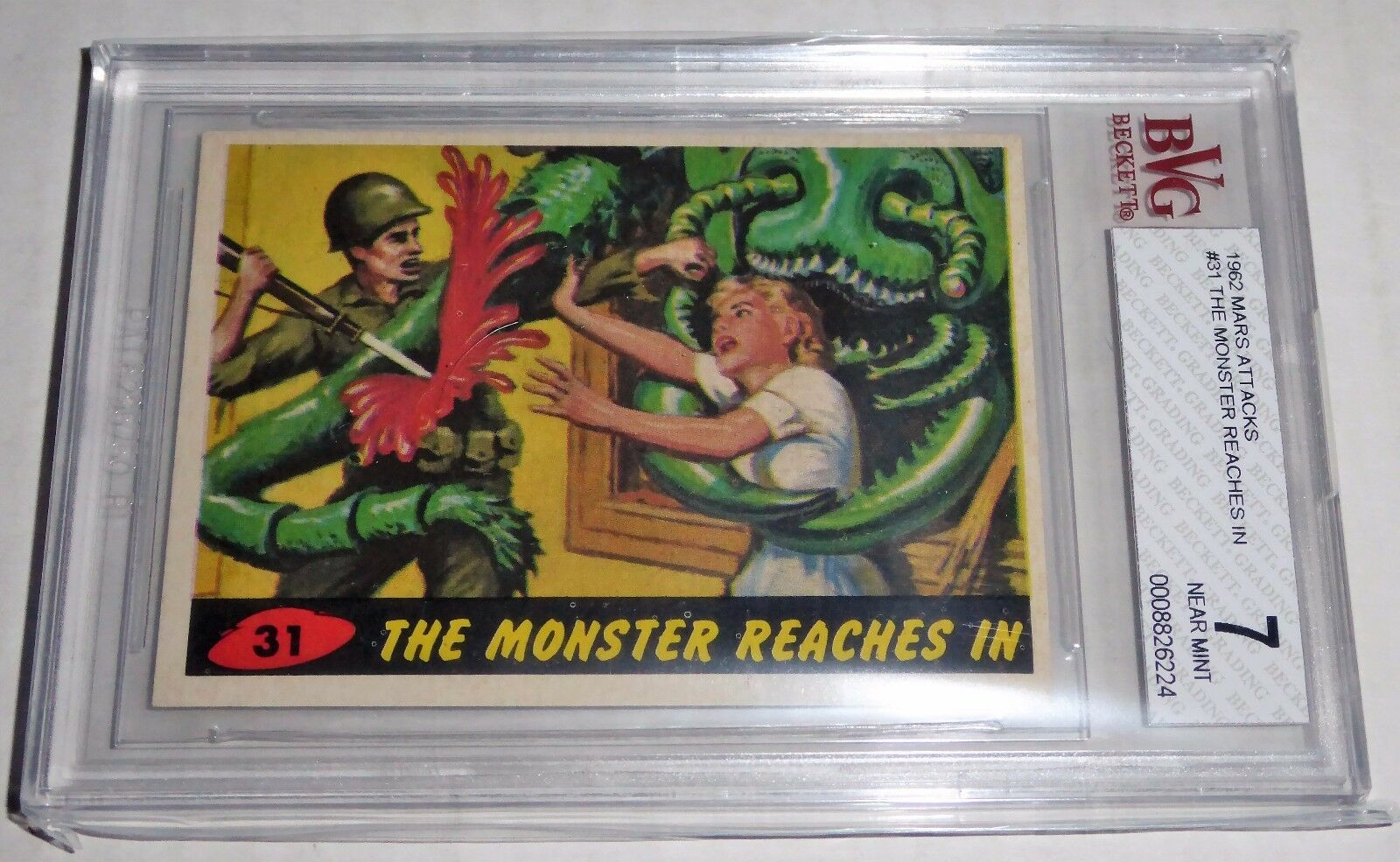 1962 Mars Attacks The Monsters Reach In #31 Mint BGS BVG 7 Like PSA Alien Horror