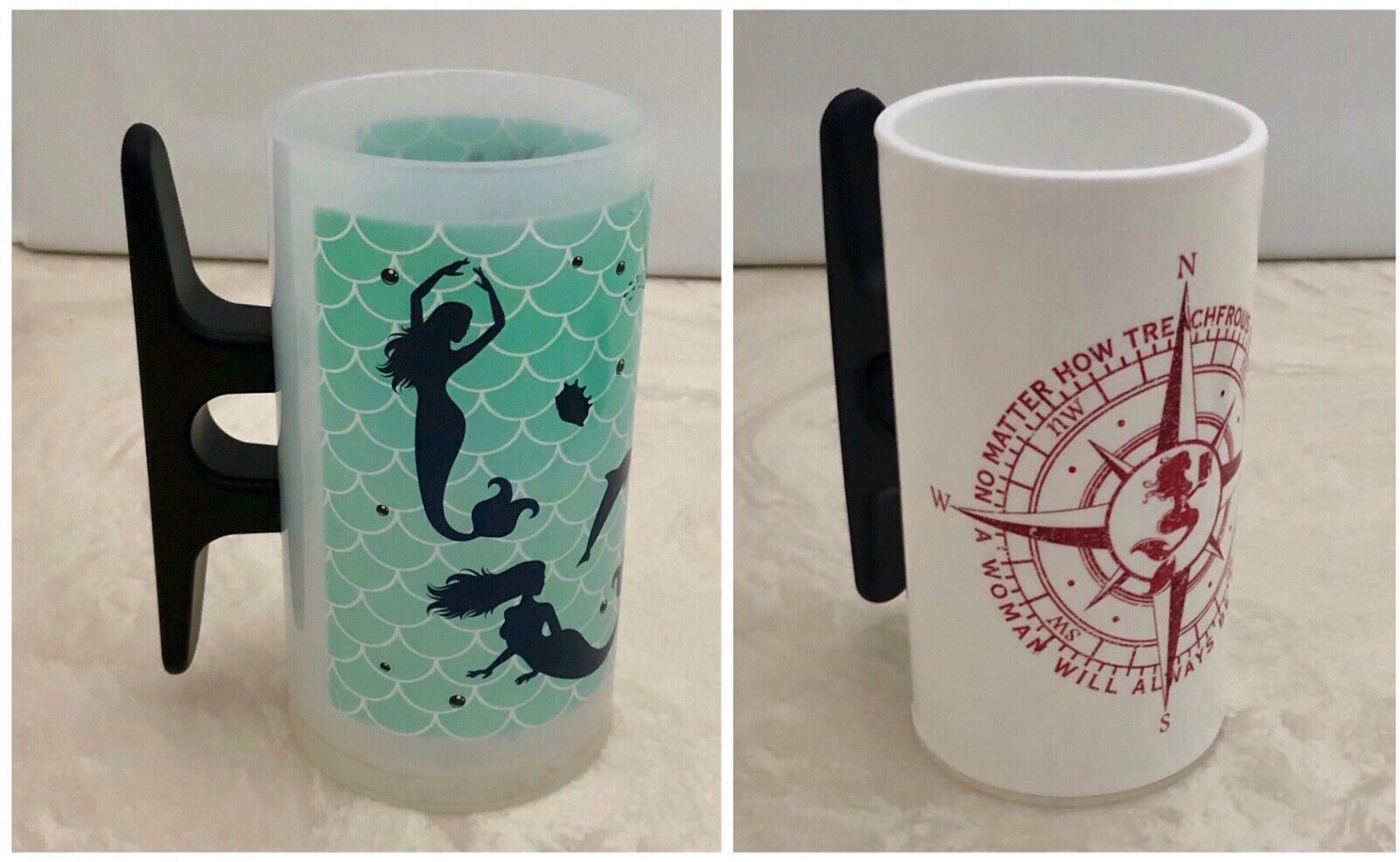 Cleatus Cups Mermaids Ship Compass 24 Ounce Beer Boat Cleat Nautical You Choose