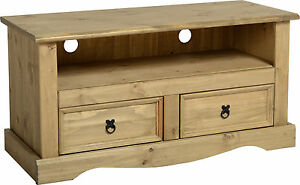 MEXICAN PINE CORONA FLAT SCREEN TV UNIT STAND CABINET *FREE NEXT DAY DELIVERY