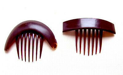 Victorian Wigs, Hair Pieces  | Victorian Hair Jewelry Two mid Victorian hinged hair combs faux tortoiseshell hair accessories $150.00 AT vintagedancer.com