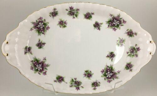 "Royal Albert Sweet Violets Oval tray 8 """
