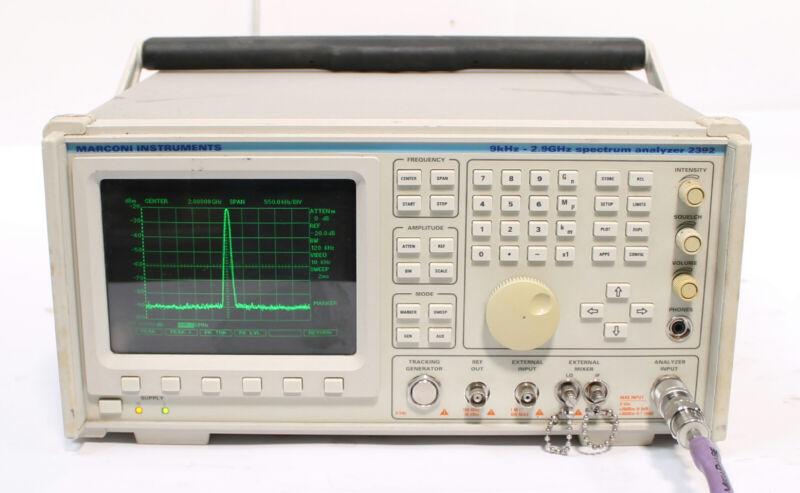 Marconi / IFR 2392 Spectrum Analyzer 9 kHz to 2.9 GHz