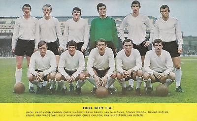 HULL CITY FOOTBALL TEAM PHOTO 1967-68 SEASON