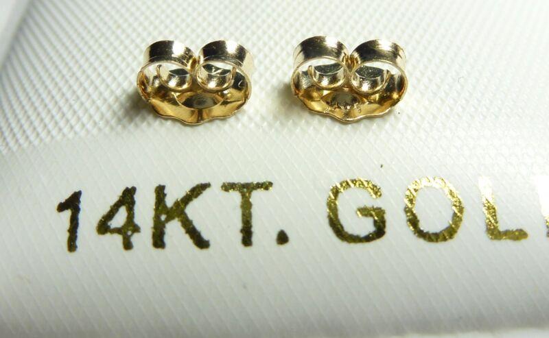 14KT YELLOW GOLD BACKS, 5MM FULL SIZE PAIR...100% GUARANTEED -  FREE SHIPPING