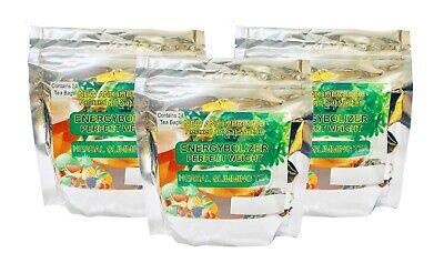 Energybolizer Perfect Weight Herbal Slimming Tea 3-Pack  (72 Bags) APPLE & MANGO