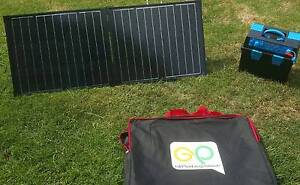 ARK POWER PACK AND 120 WATT PORTABLE SOLAR PANEL FULL CAMPING SET Wyong Wyong Area Preview