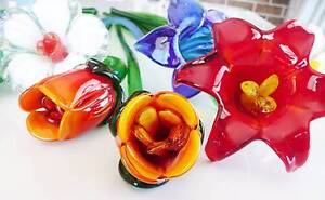 Stunning Murano Glass flowers. Soldiers Point Port Stephens Area Preview