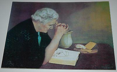 Jack Garren GRATITUDE 10x13 unframed mounted textured print, old woman praying