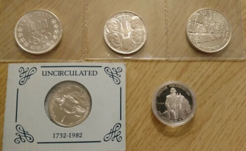 LOT OF (5) 90% SILVER COINS BU/UNC