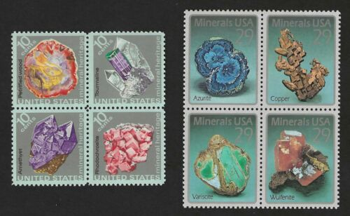 ROCKS & MINERALS - BEAUTIFUL SET OF 8 U.S. POSTAGE STAMPS - MINT CONDITION