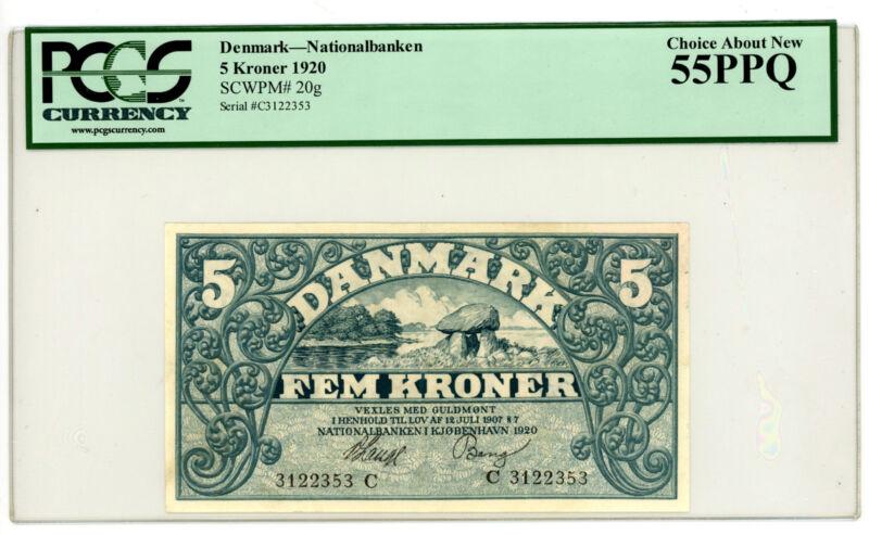 Denmark … P-20g … 5 Kroner … 1907 … *AU*  Letter C.