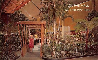 On The Mall At Cherry Hill Tropical Garden Scene Cherry Hill ,NJ Vtg Postcard (The Gardens Mall)