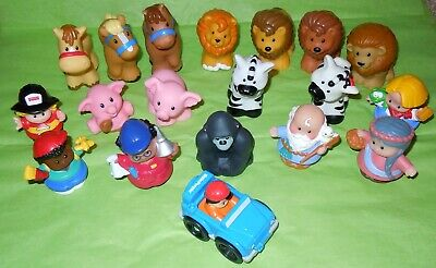 Fisher Price Little People Mixed Lot Of 19 Animals Farm Zoo