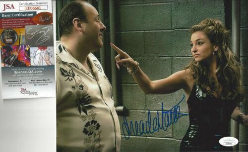 SOPRANOS Drea De Matteo autographed 8x10 photo wearing leather  JSA Certified
