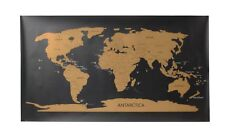 Travellers Large 80x45 cm Scratch Off World Map Travel Holiday Poster Wall Paper
