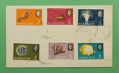 DR WHO 1965 BARBADOS FDC SEA CREATURES C241648