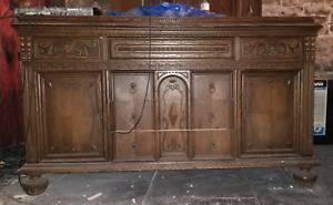Antique Vintage Solid Wood Dresser
