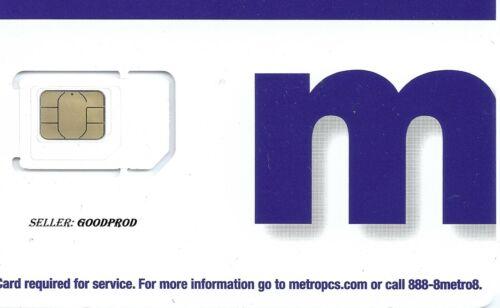 MetroPCS/MetroByT-Mobile Triple Cut SIM Card